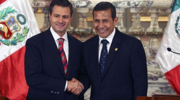 Humala: Perú y México trabajan acuerdos para combatir al narcotráfico