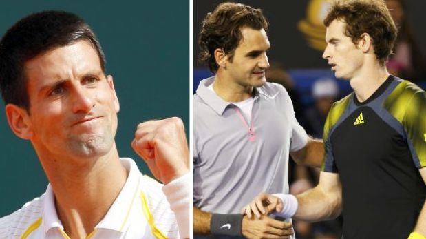Djokovic sigue líder del ránking ATP y Murray desplazó a Federer