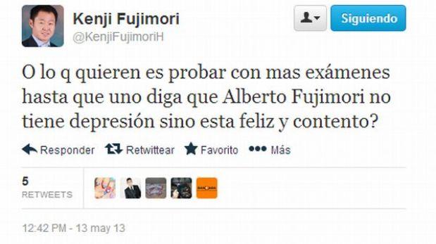 Kenji Fujimori criticó intención de someter a nuevo examen a su padre