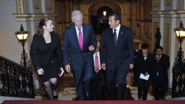 FOTOS: la visita de Bill Clinton a Ollanta Humala en Palacio de Gobierno