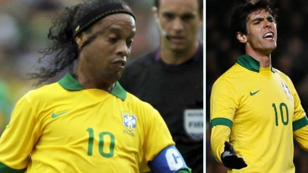 Ronaldinho y Kaká quedaron fuera de la Copa Confederaciones