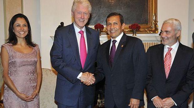 Ollanta Humala firmó acuerdo de cooperación con fundación de Bill Clinton