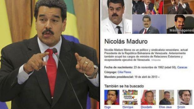 Google retiró imagen del rostro distorsionado de Nicolás Maduro