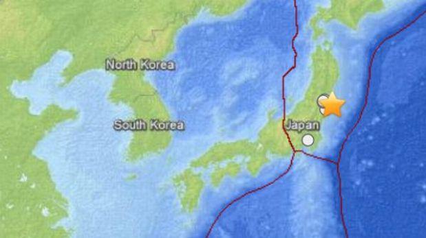 Sismo de 5,9 grados en la escala de Richter sacudió costa noreste de Japón