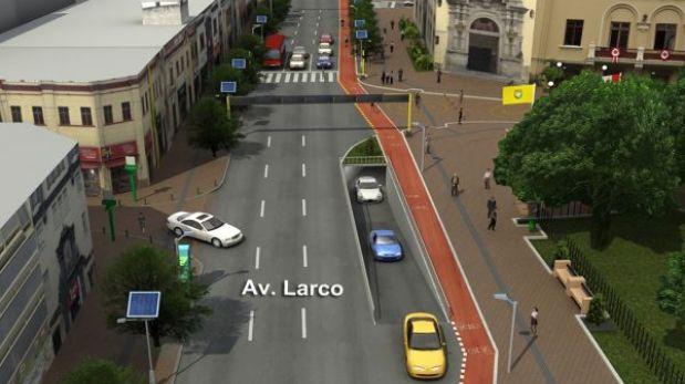 Miraflores plantea desvíos vehiculares por obras en la avenida Larco