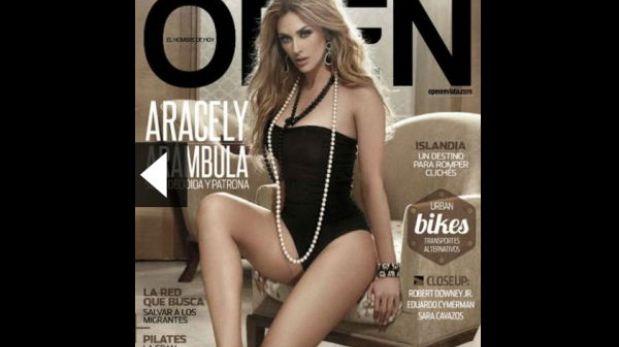 """Aracely Arámbula luce espectacular en sesión fotográfica para revista """"Open"""""""