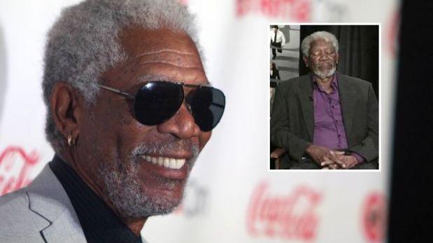 """Morgan Freeman jura que no se quedó dormido: """"Estaba actualizando mi Facebook"""""""