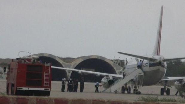 Ica: tripulantes heridos tras aterrizaje de emergencia son trasladados a Lima