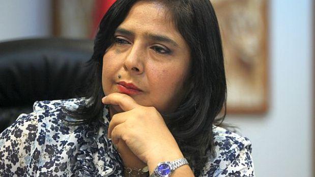 Ministra de la Mujer rechazó acusación sobre malos manejos de presupuesto