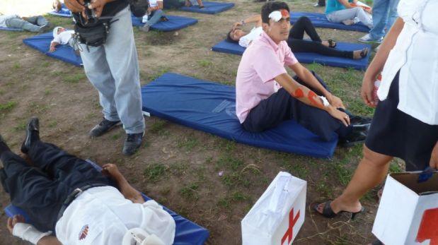 FOTOS: así fue el simulacro nacional de sismo y tsunami