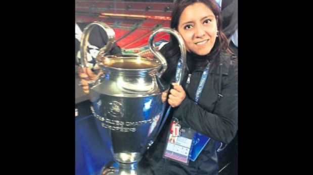 Gisela Leyva: peruana que besó la copa de Champions en Wembley