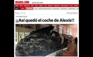 """FOTO: así quedó el auto de Alexis Sánchez luego de su """"brutal"""" accidente"""