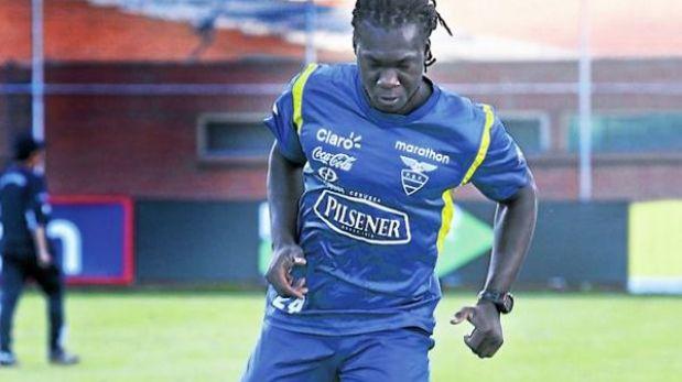 Felipe Caicedo fue dado de alta en Ecuador y podría jugar ante Perú