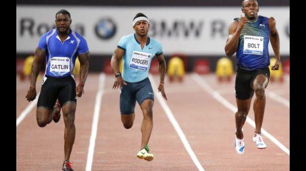 Sorpresa en Roma: Bolt perdió ante Gatlin en la prueba de 100 metros