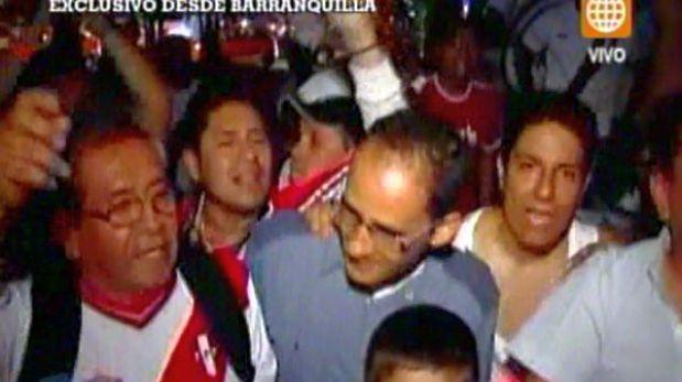 Selección peruana agradeció bienvenida de hinchas en Barranquilla