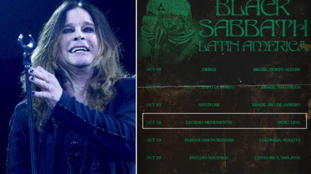 Concierto de Black Sabbath en Lima se realizará en el Estadio Monumental