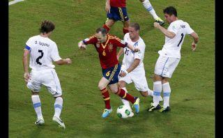 FOTOS: las selecciones de España y Uruguay en su debut en la Copa Confederaciones 2013