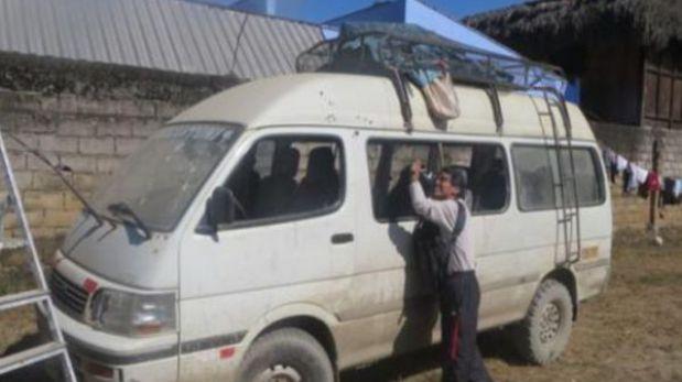 Tres pasajeros de combi baleada en Echarate dieron positivo en absorción atómica