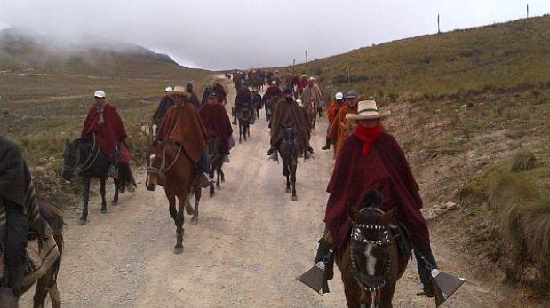 Cajamarca: manifestantes anti Conga llegan a la laguna El Perol