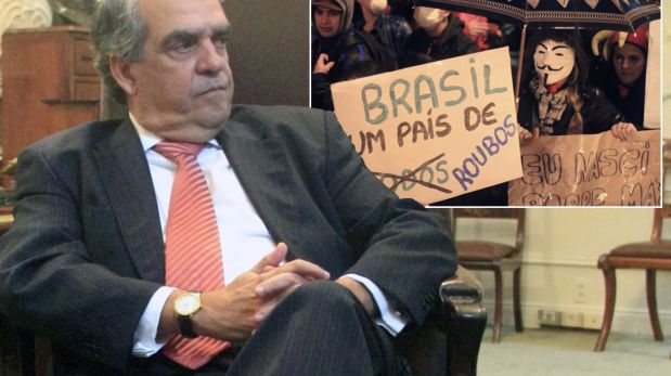 """Embajador de Brasil atribuyó las protestas masivas a """"los dolores del crecimiento"""""""