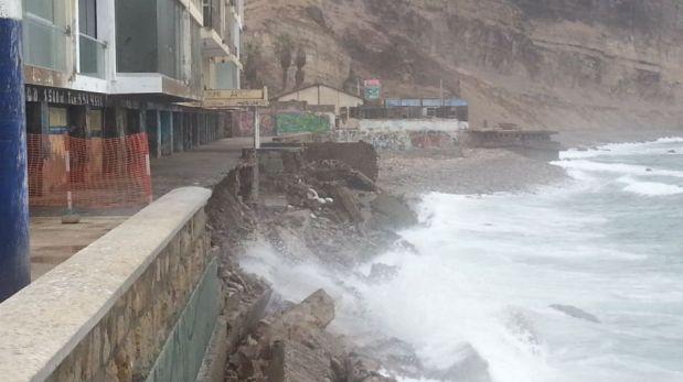Playa La Herradura: colocarán 40 metros de rocas para proteger edificio