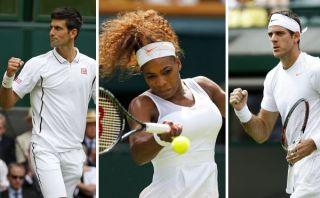 Wimbledon: Djokovic, Williams y Del Potro avanzaron a la segunda rueda