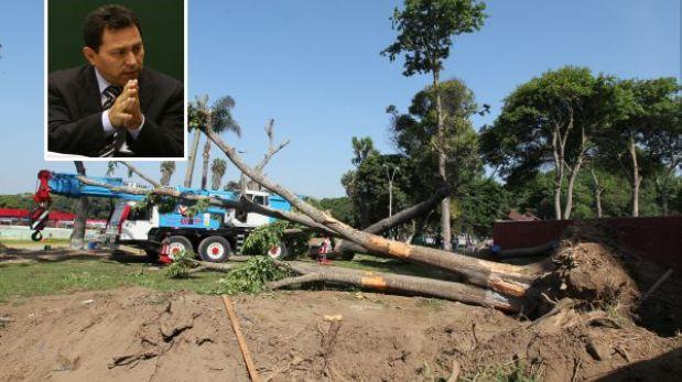 Lima autorizó denunciar a alcalde Ocrospoma por obras en parque Próceres