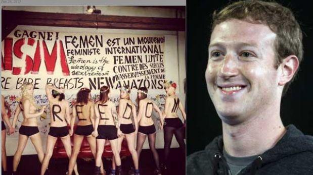 """Facebook cerró página de activistas de Femen por """"pornografía y prostitución"""""""