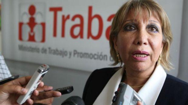 """Ministra de Trabajo: paro de la CGTP es improcedente y tiene """"cariz político"""""""