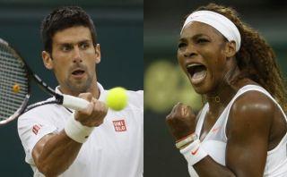 Novak Djokovic y Serena Williams no dan tregua en Wimbledon