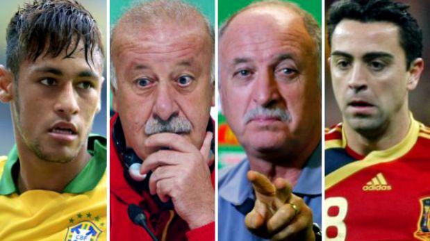 A poco de la final Brasil-España: dimes y diretes de sus protagonistas