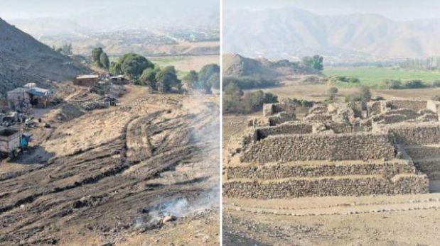 Pirámide contemporánea a Caral fue destruida en San Martín de Porres