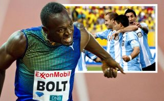 Usain Bolt quiere que Argentina gane el próximo Mundial de fútbol