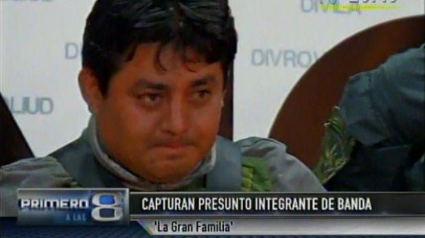 """Policía presentó a un presunto integrante de """"La gran familia"""""""
