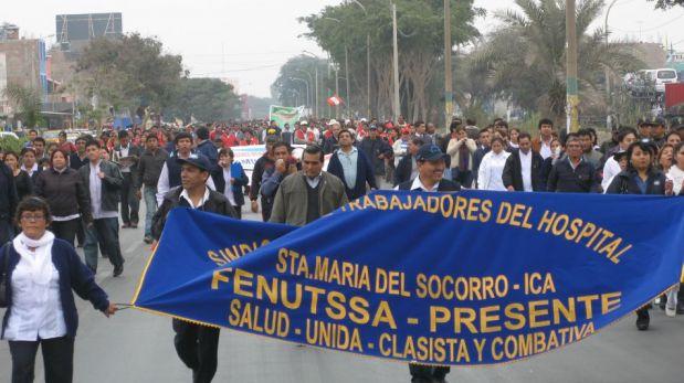 FOTOS: trabajadores estatales protestan contra la Ley del Servicio Civil en el interior del país