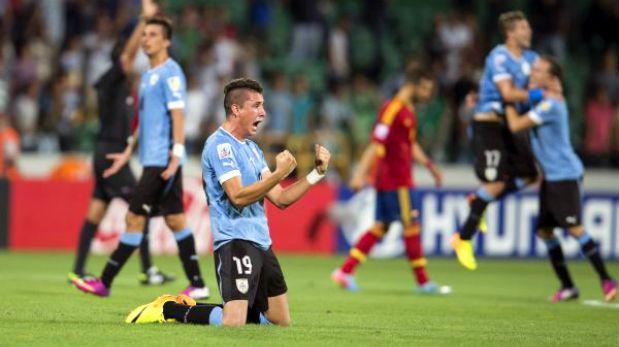 Uruguay venció 1-0 a España y alcanzó las semifinales del Mundial Sub 20