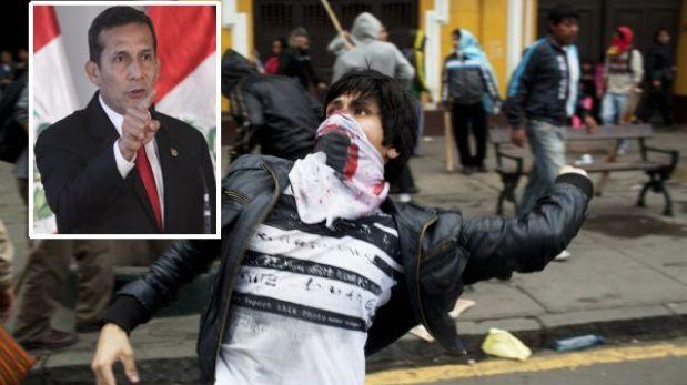 """Ollanta Humala critica que universitarios protesten con rostro cubierto: """"Parecen delincuentes"""""""
