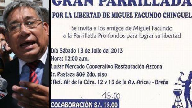 Familiares y amigos organizan parrillada por Miguel Facundo Chinguel