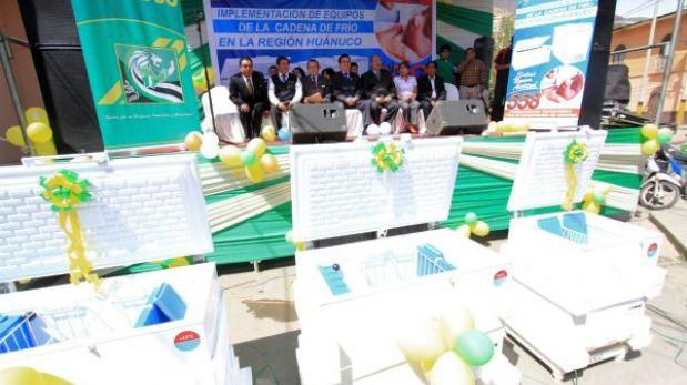 Huánuco: más 500 refrigeradoras para vacunas fueron entregadas a región