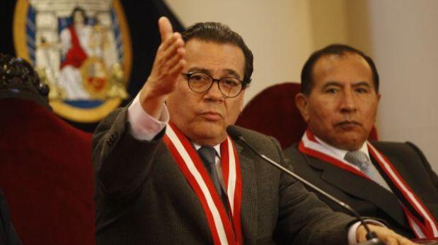 """Presidente del Poder Judicial: """"No he visto intención de interferencia al TC"""""""