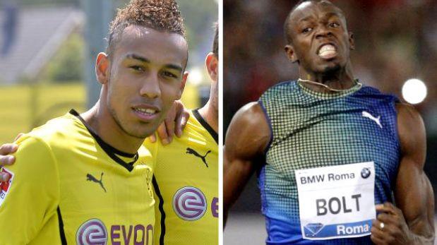 El delantero de Borussia Dortmund que es más rápido que Usain Bolt