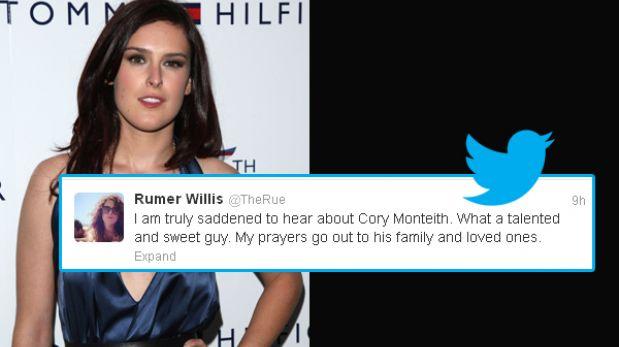Hollywood de luto: celebridades lloran la muerte de Cory Monteith