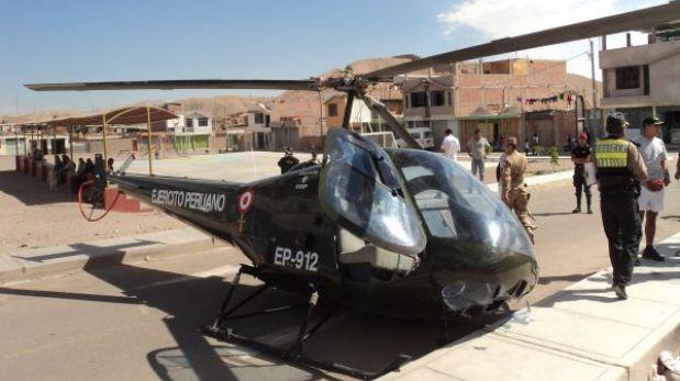 Helicóptero del Ejército cayó en centro poblado de Moquegua