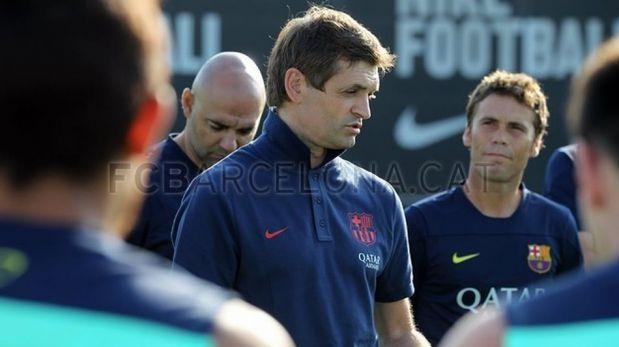 FOTOS: Lionel Messi acaparó la atención en el primer entrenamiento doble del FC Barcelona