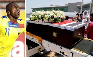 Multitud recibe los restos mortales de 'Chucho' Benítez en Quito