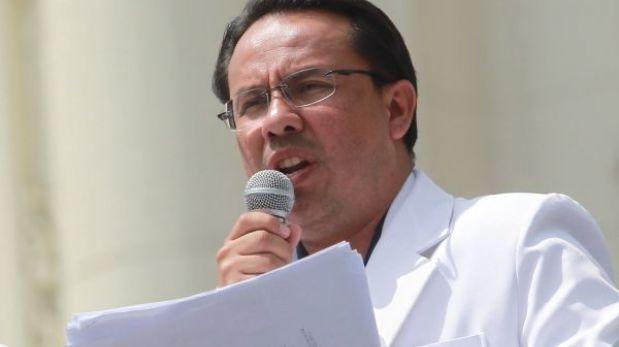 """La huelga médica no se levantará hoy"", anunció César Palomino"