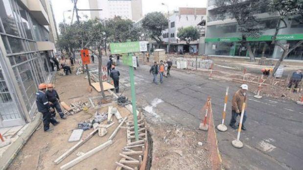 Primera etapa de las obras en Larco recién estará lista la próxima semana