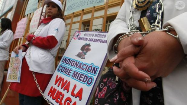 Médicos en huelga piden dialogar con el presidente Ollanta Humala