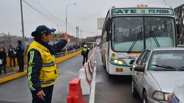 Carril para mototaxis en Puente Bella Unión genera quejas de choferes