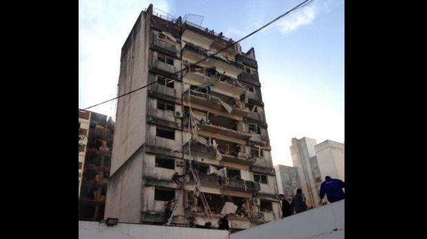 FOTOS: explosión en edificio de Rosario deja un muerto y al menos 30 heridos
